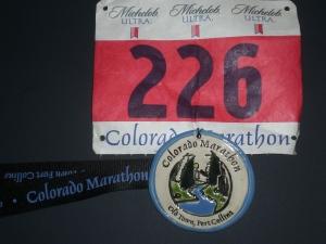 2008 Colorado Marathon Medal & Bib