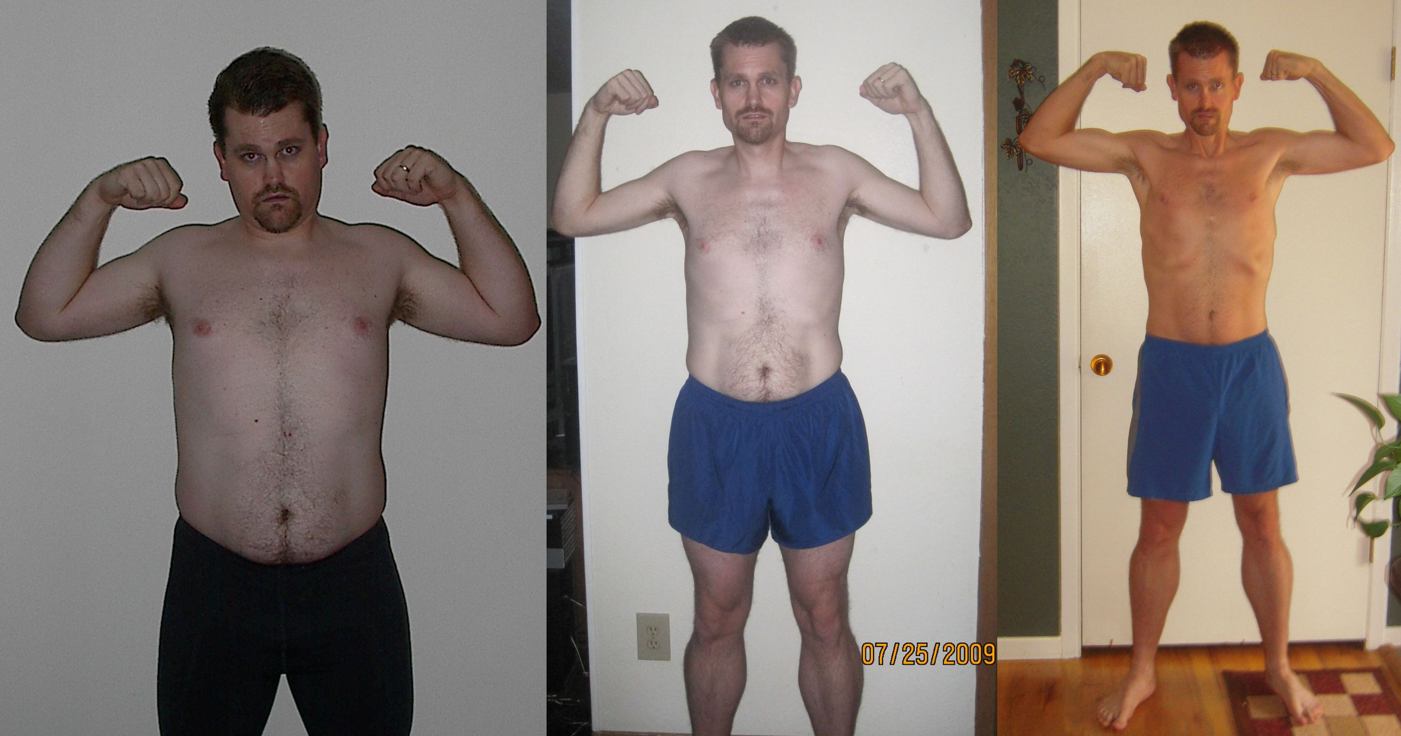 P90x Doubles My p90x day 1 and day 30.
